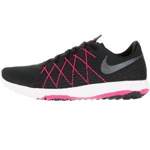 EUC Nike Fury 2 black and pink running sneakers